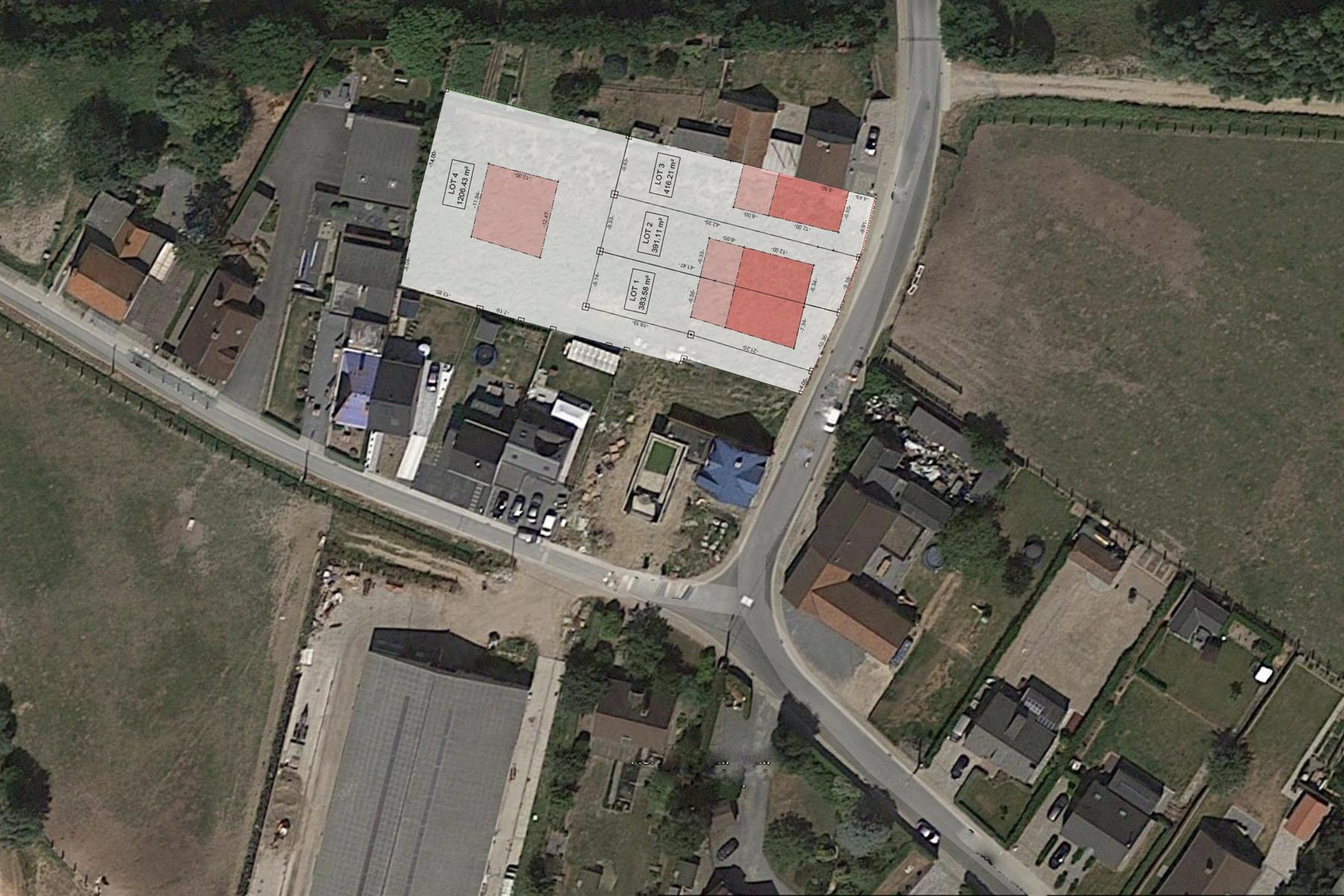 Rustig gelegen bouwgrond voor HOB te Oordegem 383m2