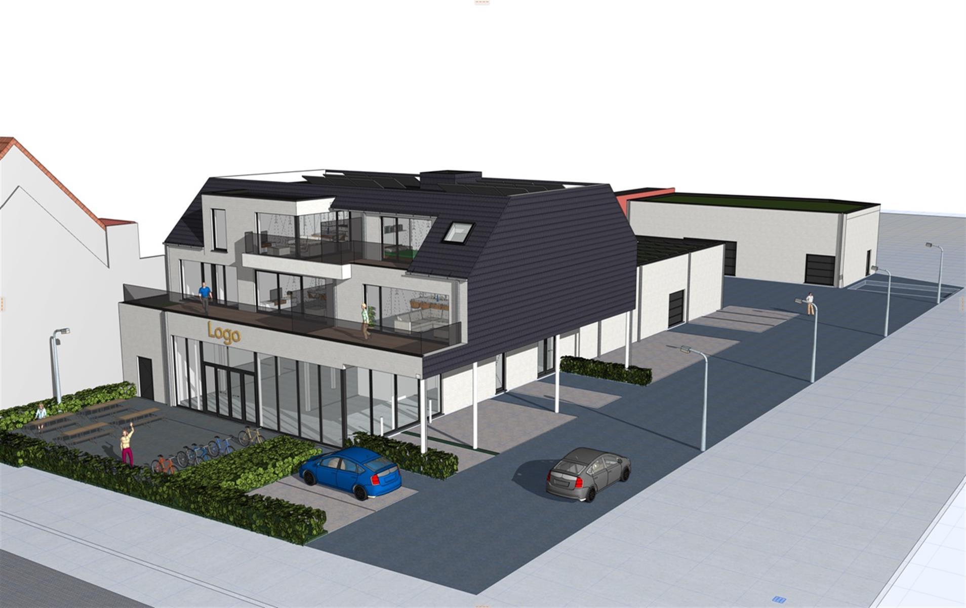 Nieuwbouwmagazijn op de Gentsesteenweg te Deinze